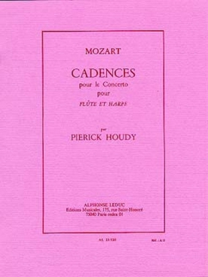 Cadences Pour Le Concerto De Mozart Flûte Et Harpe