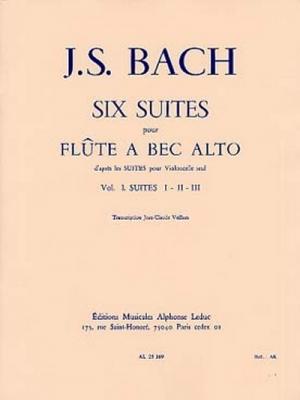 Bach Johann Sebastian / Veilhan : 6 Suites (D'Apres Les Suites Pour Violoncelle Volume 1:Suites 1-2-3 F.A B.Alto