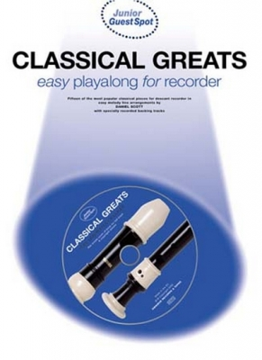 Guest Spot Junior Classical Greats Easy Playalong Recorder Cd