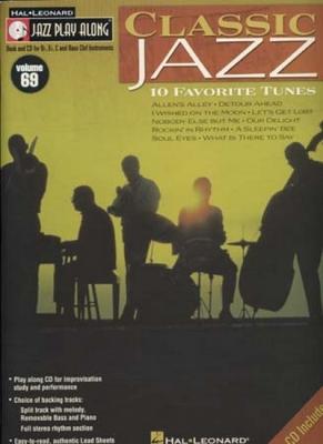 Jazz Play Along Vol.69 Classic Jazz Bb Eb C Inst.