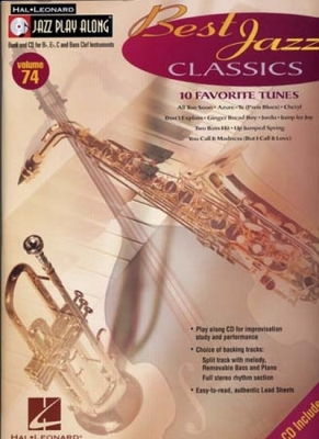 Jazz Play Along Vol.74 Best Jazz Classics Bb Eb C Inst.