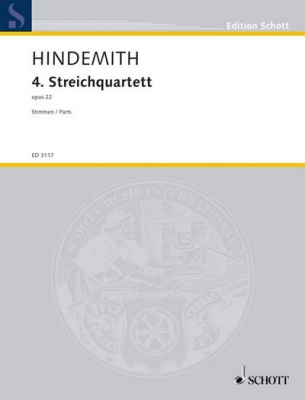 Hindemith Paul : 4th String Quartet op. 22