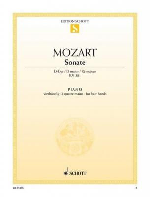 Mozart Wolfgang Amadeus : Sonata D Major KV 381