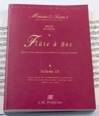 Méthodes et Traités Flûte à bec - Volume 3 - Europe