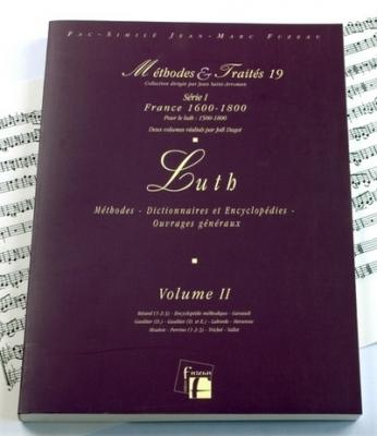Méthodes et Traités Luth - Volume 2 - France 1600-1800