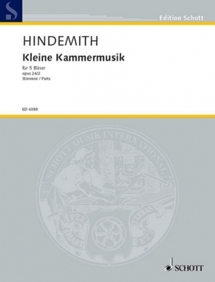Hindemith Paul : Easy Chamber music op. 24/2