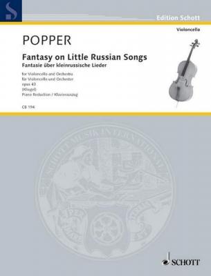 Popper David : Fantasy on Little Russian Songs op. 43