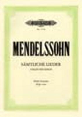 Mendelssohn-Bartholdy Felix : Complete Songs