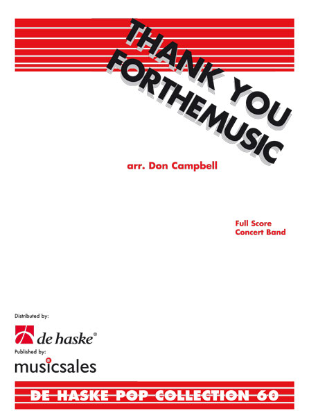 Björn Ulvaeus Benny Andersson: Thank You For The Music: Concert Band: Score &