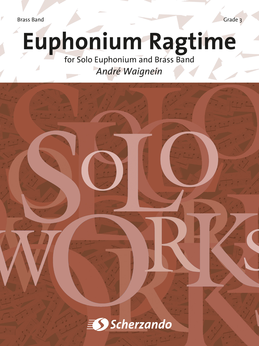 André Waignein: Euphonium Ragtime: Brass Band and Solo: Score