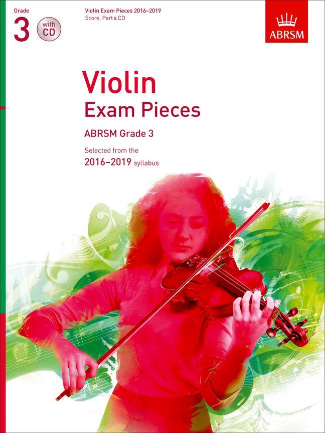 Violin Exam Pieces 2016-2019  ABRSM Grade 3: Violin: Instrumental Album