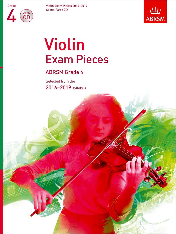 Violin Exam Pieces 2016-2019  ABRSM Grade 4: Violin: Instrumental Album