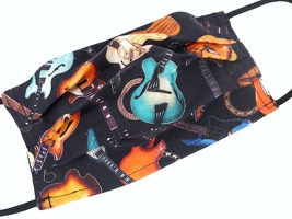 Face Covering Music Design 28 (Cotton) 18 5*9 5 cm: Clothing