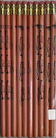 Pencil Violin Natural Wood - Pack Of 10: Stationery
