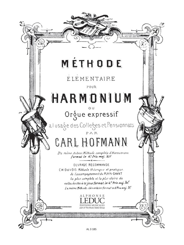 Georg Melchior Hoffmann: Methode elementaire D'Harmonium ou Orgue expressif: