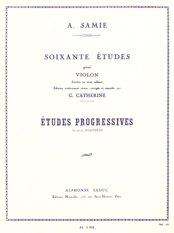 Auguste Samie: Sixty Studies for Violin - Vol. 2: Progressive Studies (Violin)