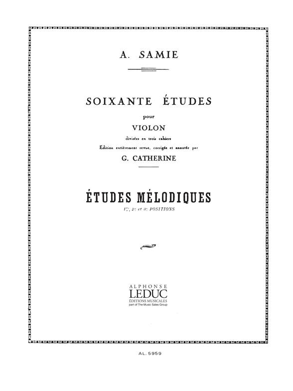 Samie: 60 Studies for Violin: Violin: Study