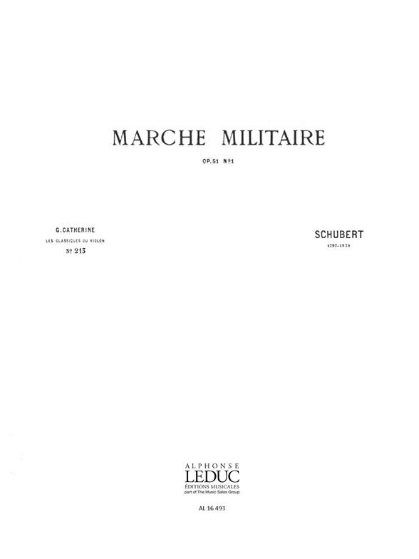 Franz Schubert: Franz Peter Schubert: Marche militaire: Violin: Score