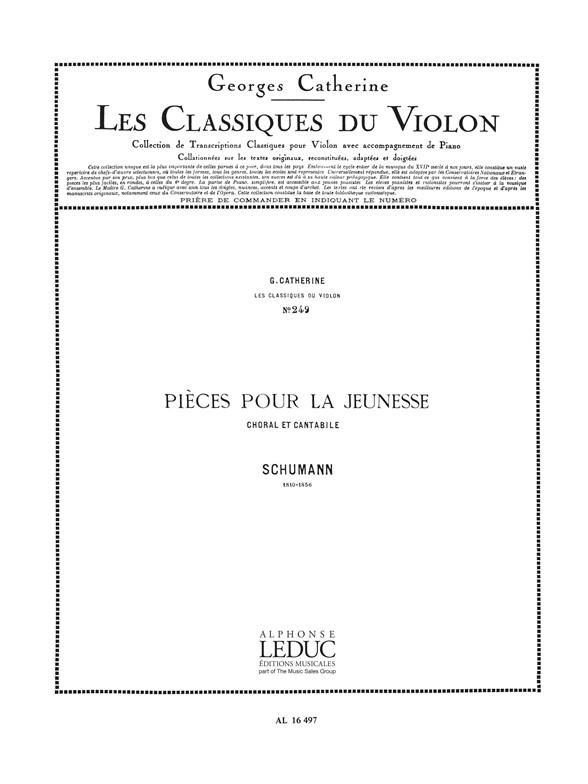 Robert Schumann: Robert Alexander Schumann: Choral et Cantabile: Violin: Score
