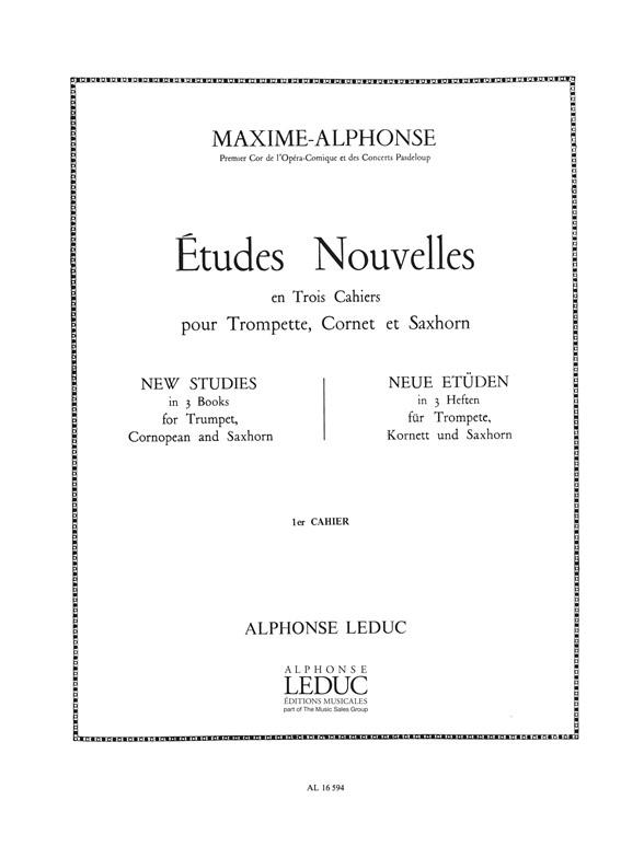 Alphonse: Etudes Nouvelles 1: Trumpet: Score