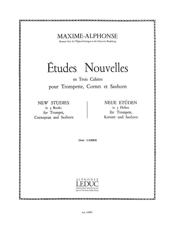 Maxime Alphonse: Etudes Nouvelles: Trumpet: Score
