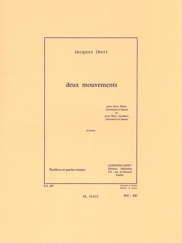 Jacques Ibert: Deux Mouvements - MCMXXII: Wind Ensemble: Score and Parts