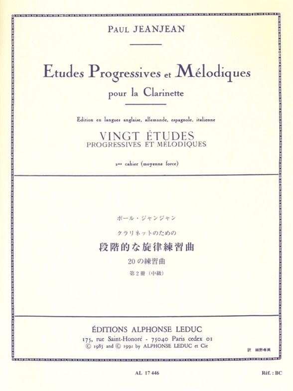 Jean-Jean: 20 Etudes Progressives & Melodiques 2: Clarinet: Study