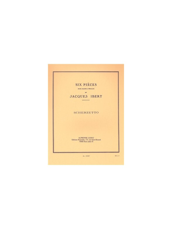 Jacques Ibert: Six Pieces For Harp No.2 - Scherzetto: Harp: Instrumental Work