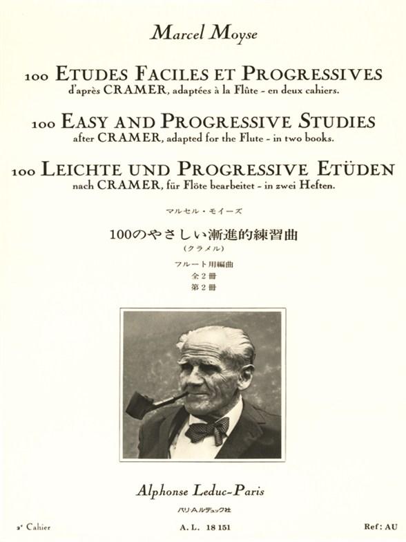 Marcel Moyse: 100 Etudes Faciles Et Progressives 2: Flute: Study
