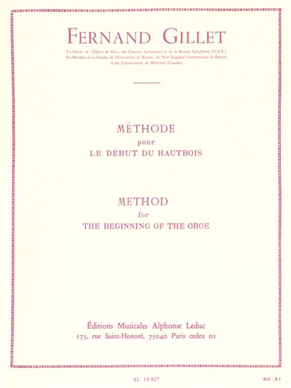 Ferdinand Gillet: Methode pour le Dbut (Oboe Solo)