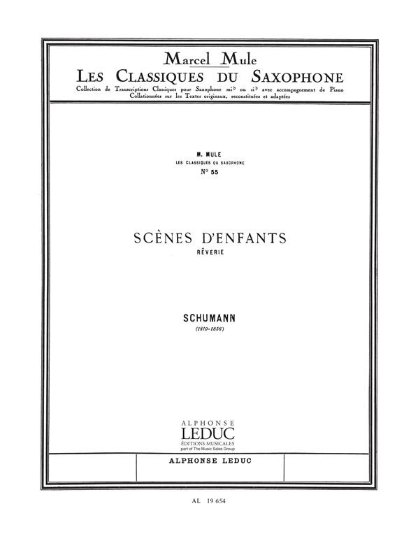 Robert Schumann: Robert Alexander Schumann: Rêverie Op.15  No.7: Alto Saxophone: