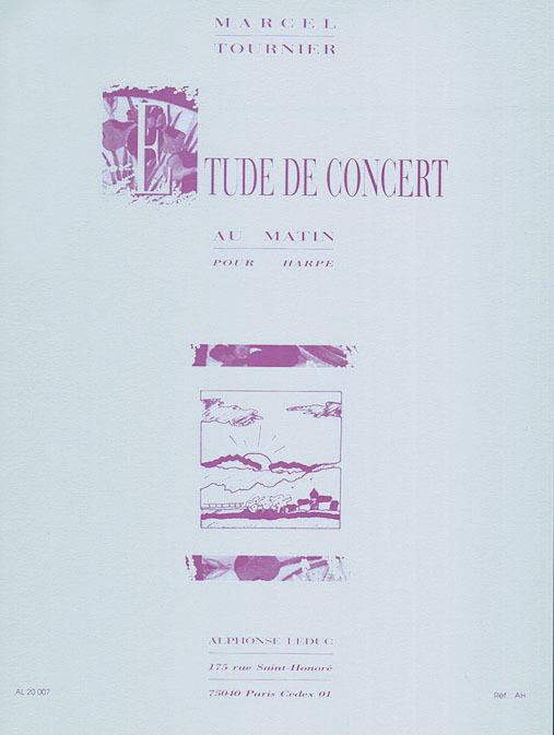 Michel Tournier: Au Matin  étude de concert pour harpe: Harp: Instrumental Work