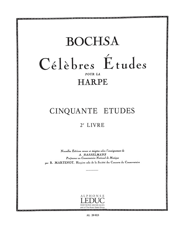 Robert Nicholas Charles Bochsa: Cinquante Études Op. 34  Vol. 2: Harp: