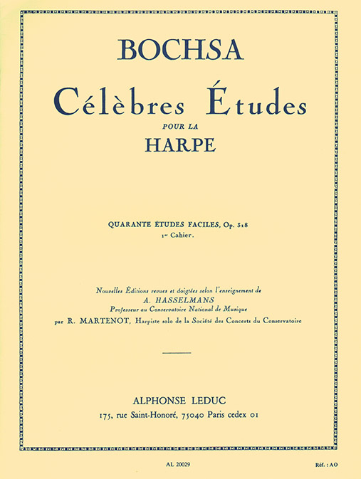 Robert Nicholas Charles Bochsa: 40 Etudes Faciles Op. 318 Vol.1: Harp: Study