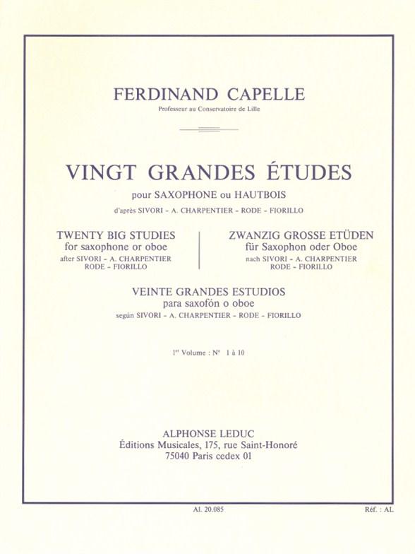 F. Capelle: 20 Grandes Etudes Vol.1: Oboe: Study