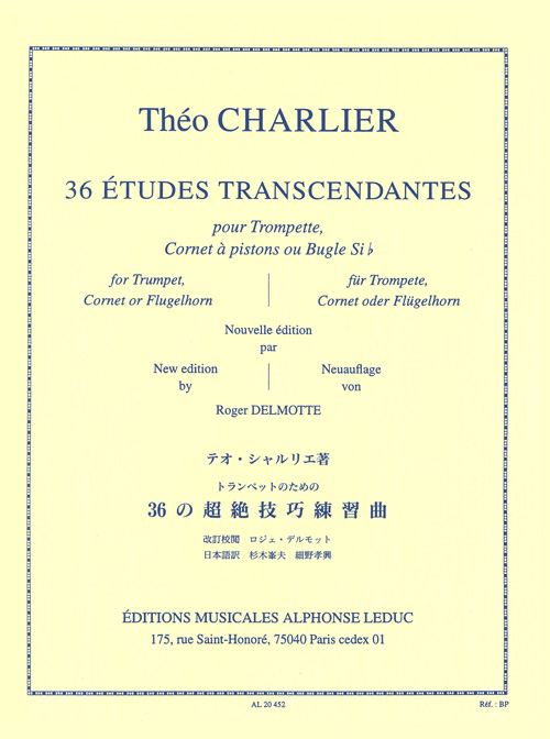 Théo Charlier: 36 Etudes Transcendantes: Trumpet: Study