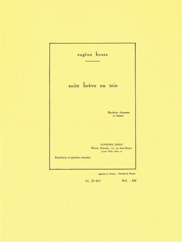 Eugène Bozza: Suite Brève En Trio Op.67: Wind Ensemble: Score and Parts
