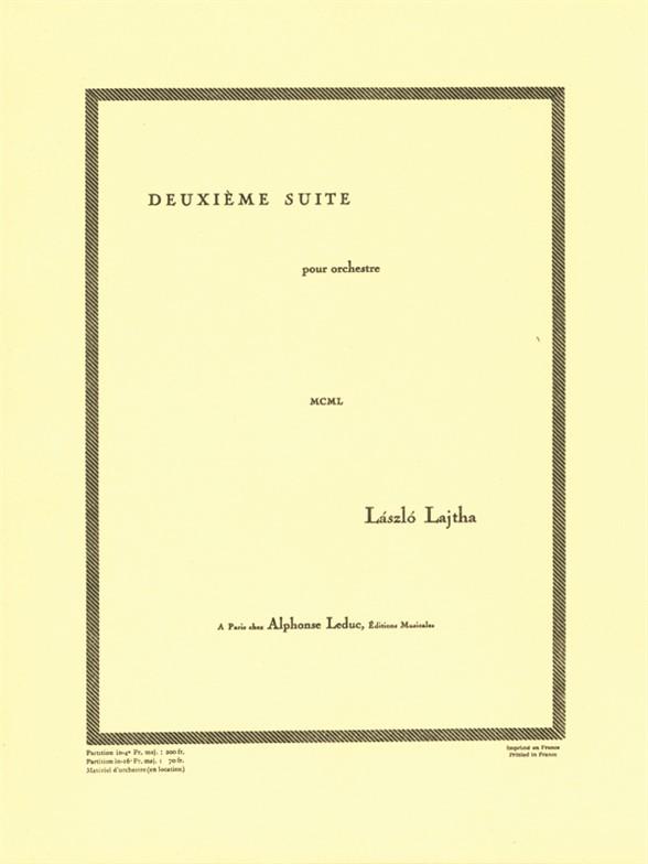 Laszlo Lajtha: Suite D'Orchestre N02: Orchestra: Instrumental Work