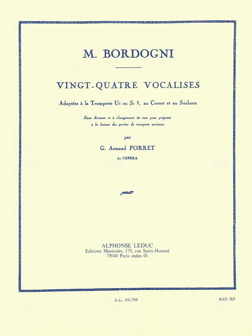 Marco Bordogni: Vingt-Quatre Vocalises: Trumpet: Instrumental Album