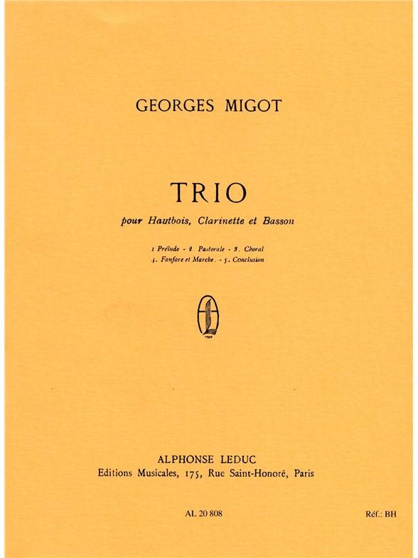 Georges Migot: Trio: Wind Ensemble: Score