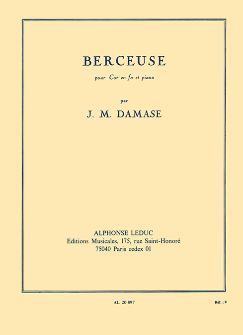 Jean-Michel Damase: Berceuse Cor En Fa Et Piano: French Horn: Instrumental Work