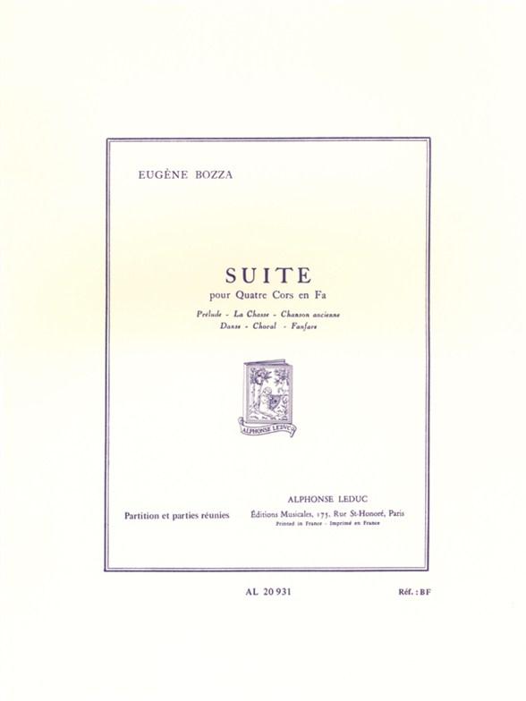 Eugène Bozza: Suite For Four Horns: Horn Ensemble: Score and Parts