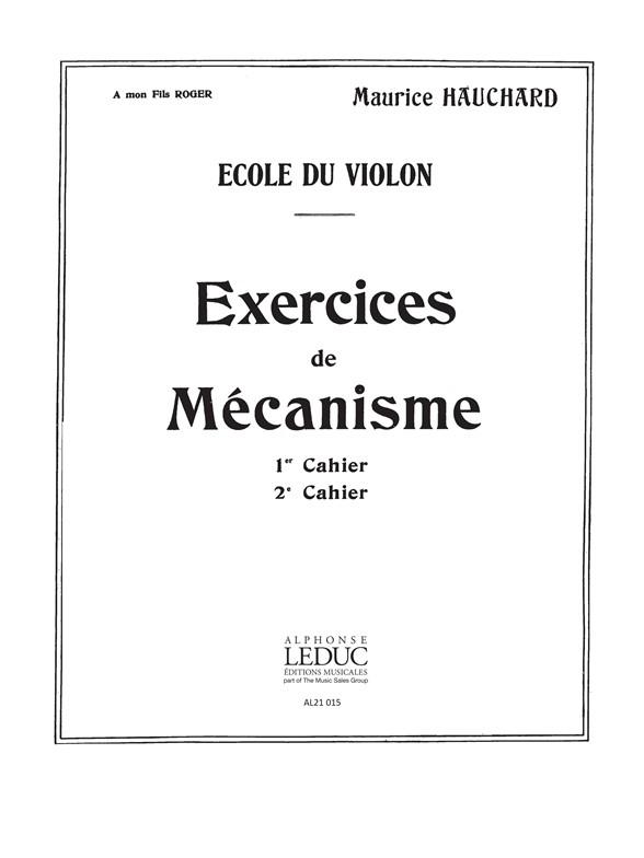 Maurice Hauchard: M. Hauchard: Exercices de Mecanisme Vol.2: Violin: Study