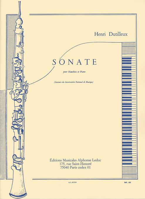 Henri Dutilleux: Sonate pour Hautbois et Piano: Oboe: Instrumental Work