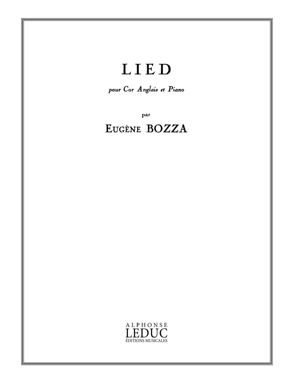 Eugne Bozza: Lied (Cor Anglais and Piano)