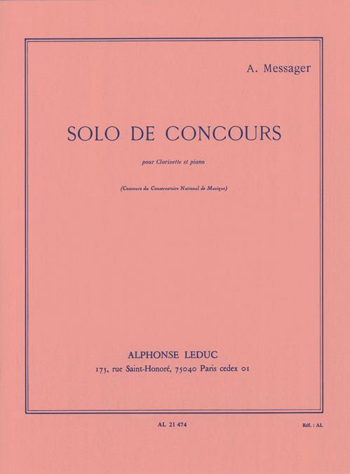 André Messager: Solo De Concours: Clarinet: Instrumental Work