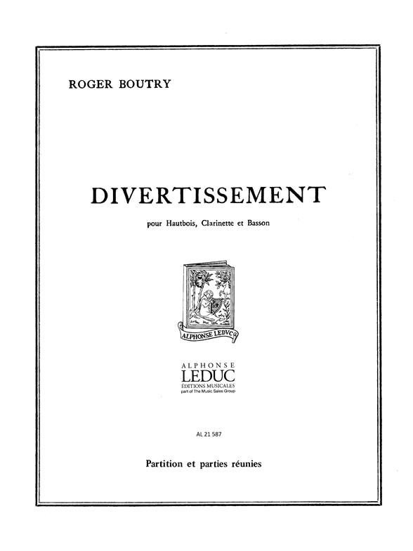 Roger Boutry: Roger Boutry: Divertissement en 3 Mouvements: Wind Ensemble: Score