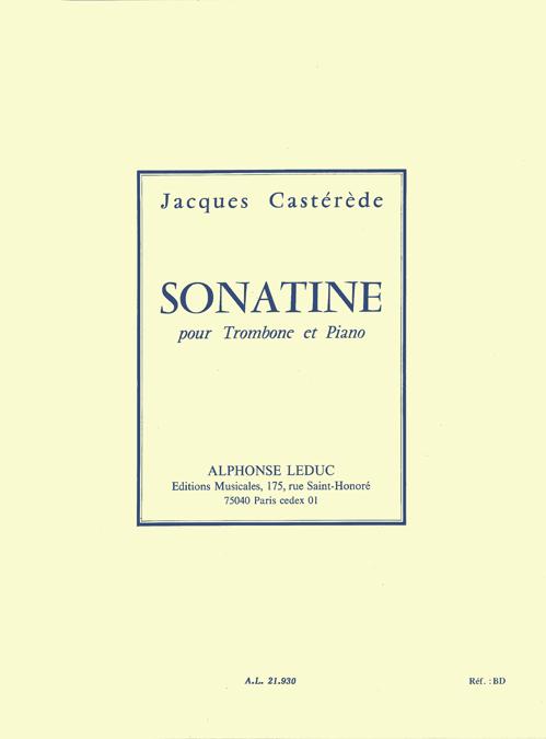 Jacques Castérède: Sonatine: Trombone: Instrumental Work