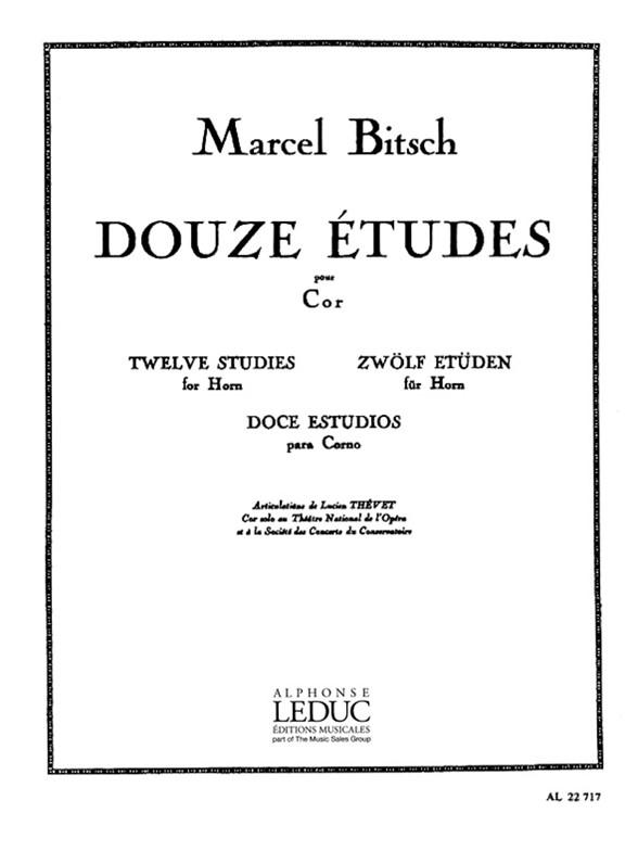 Bitsch: 12 Etudes: French Horn: Study