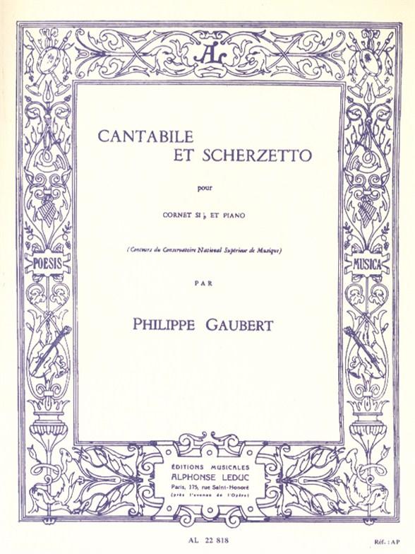 Philippe Gaubert: Cantabile Et Scherzetto: Cornet: Instrumental Work